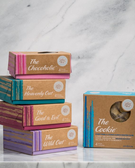 Cookie Variety Pack - One box each of The Cookie, The Chocoholic, The Wild Oat, The Heavenly Oat, and The Good & Evil.