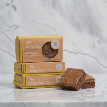 The Nutty One - An insanely delicious brownie. The perfect balance of chocolate, peanut butter, and Sel Gris for even the most serious sweet tooth.